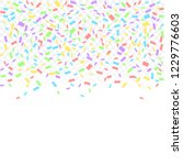 colorful confetti ribbons... | Shutterstock .eps vector #1229776603