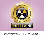 shiny emblem with nuclear ... | Shutterstock .eps vector #1229790550