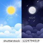 day and night sky illustration... | Shutterstock .eps vector #1229794519
