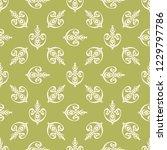 seamless decorative vector... | Shutterstock .eps vector #1229797786