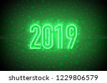 happy new year with neon sign... | Shutterstock .eps vector #1229806579