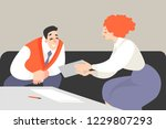 vector illustration of office... | Shutterstock .eps vector #1229807293