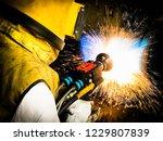 technicians repair shaft by...   Shutterstock . vector #1229807839