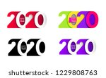 happy new year. set of 2020... | Shutterstock .eps vector #1229808763
