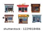 facades of various shops set ...   Shutterstock .eps vector #1229818486