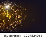 2019 happy new years background.... | Shutterstock .eps vector #1229824066