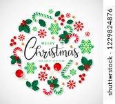 beautiful christmas background... | Shutterstock .eps vector #1229824876