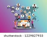 social network  people... | Shutterstock .eps vector #1229827933