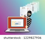 data phishing  hacker attack.... | Shutterstock .eps vector #1229827936
