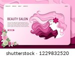 beauty salon landing page... | Shutterstock .eps vector #1229832520
