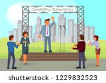 pre election campaign concept... | Shutterstock .eps vector #1229832523