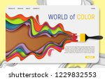 world of color landing page... | Shutterstock .eps vector #1229832553