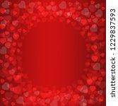 red heart shape abstract bokeh... | Shutterstock . vector #1229837593