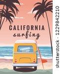 Surfer Orange Bus  Van  Camper...