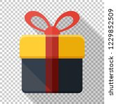 gift box icon in flat style... | Shutterstock .eps vector #1229852509