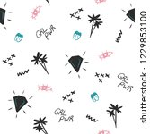 diamond style  girl power... | Shutterstock .eps vector #1229853100