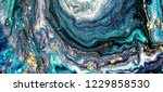art gold. painting. geode... | Shutterstock . vector #1229858530