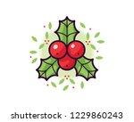 holly vector illustration | Shutterstock .eps vector #1229860243