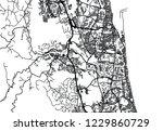 urban vector city map of gold... | Shutterstock .eps vector #1229860729