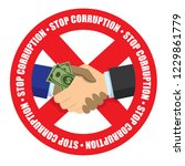 stop corruption icon money... | Shutterstock .eps vector #1229861779