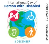 international day of person... | Shutterstock .eps vector #1229861830