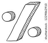 vector sketch percent symbol   Shutterstock .eps vector #1229862910