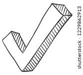 vector sketch ok symbol. yes...   Shutterstock .eps vector #1229862913