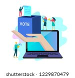 voting and election concept.... | Shutterstock .eps vector #1229870479