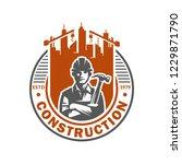 construction logo template ...   Shutterstock .eps vector #1229871790