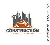 construction logo template ...   Shutterstock .eps vector #1229871796