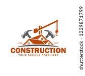 construction logo template ...   Shutterstock .eps vector #1229871799