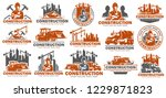 construction logo template set  ... | Shutterstock .eps vector #1229871823