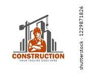 construction logo template ... | Shutterstock .eps vector #1229871826