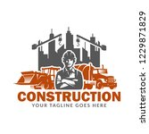 construction logo template ...   Shutterstock .eps vector #1229871829