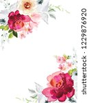 vector card with floral pattern ... | Shutterstock .eps vector #1229876920