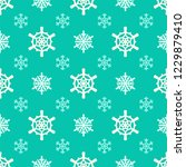 christmas snowflakes seamless... | Shutterstock .eps vector #1229879410