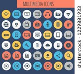 big multimedia icon set  trendy ... | Shutterstock .eps vector #1229881933