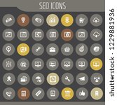 big seo icon set  trendy flat... | Shutterstock .eps vector #1229881936