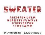 alphabet christmas design.... | Shutterstock .eps vector #1229890093