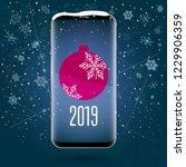 black touchscreen smartphone... | Shutterstock .eps vector #1229906359