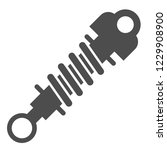 shock absorber solid icon....   Shutterstock .eps vector #1229908900