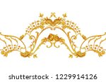 rococo intricate border with... | Shutterstock . vector #1229914126
