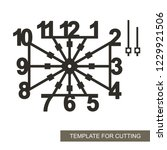 square dial with arrows and big ... | Shutterstock .eps vector #1229921506