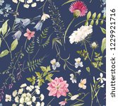 watercolor floral pattern ... | Shutterstock . vector #1229921716