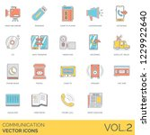 communication icons including... | Shutterstock .eps vector #1229922640