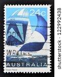 australia   circa 1981  a stamp ... | Shutterstock . vector #122992438