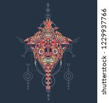 sacred geometry design with... | Shutterstock .eps vector #1229937766