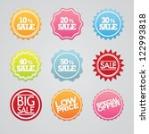 sale labels vector set | Shutterstock .eps vector #122993818