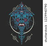 sacred geometry design with... | Shutterstock .eps vector #1229940790
