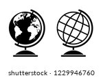 set of two vector globe... | Shutterstock .eps vector #1229946760